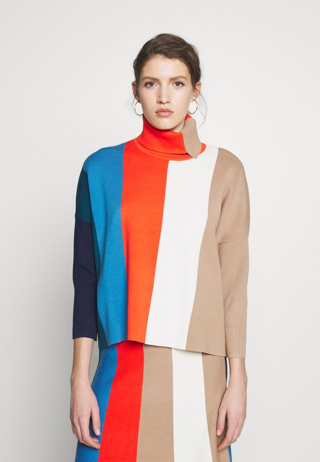 BLOCK STRIPE JUMPER - Svetr - multi