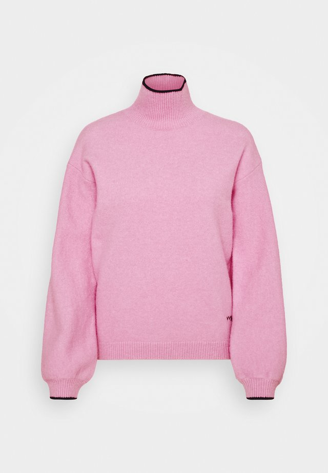 OVERSIZED MOCK NECK JUMPER - Strikkegenser - lilac pink