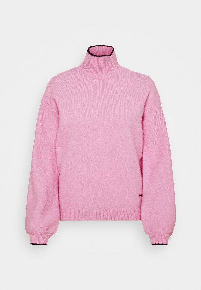 OVERSIZED MOCK NECK JUMPER - Trui - lilac pink