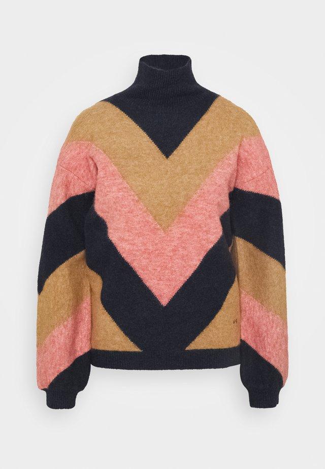 OVERSIZED MOCK NECK JUMPER - Trui - multi coloured