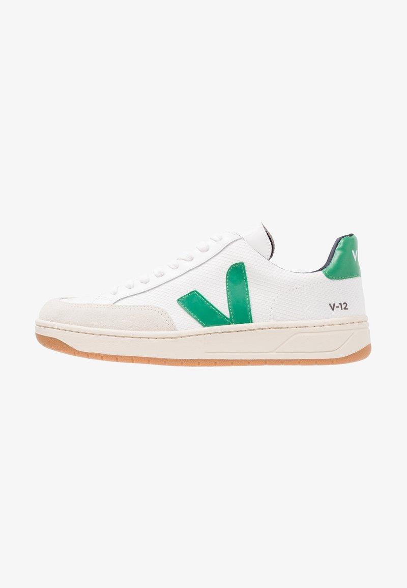 Veja - V-12  - Sneakers laag - white/emeraude