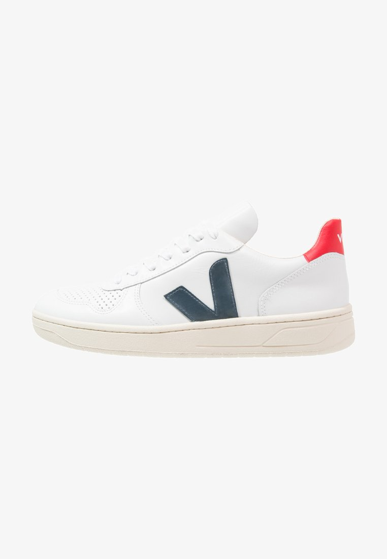 Veja - V-10 - Sneakers laag - extra white/nautico pekin
