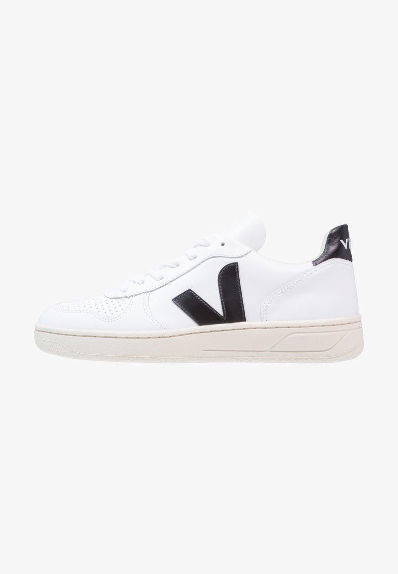 Veja - V10 LEATHER - Matalavartiset tennarit - extra white/black