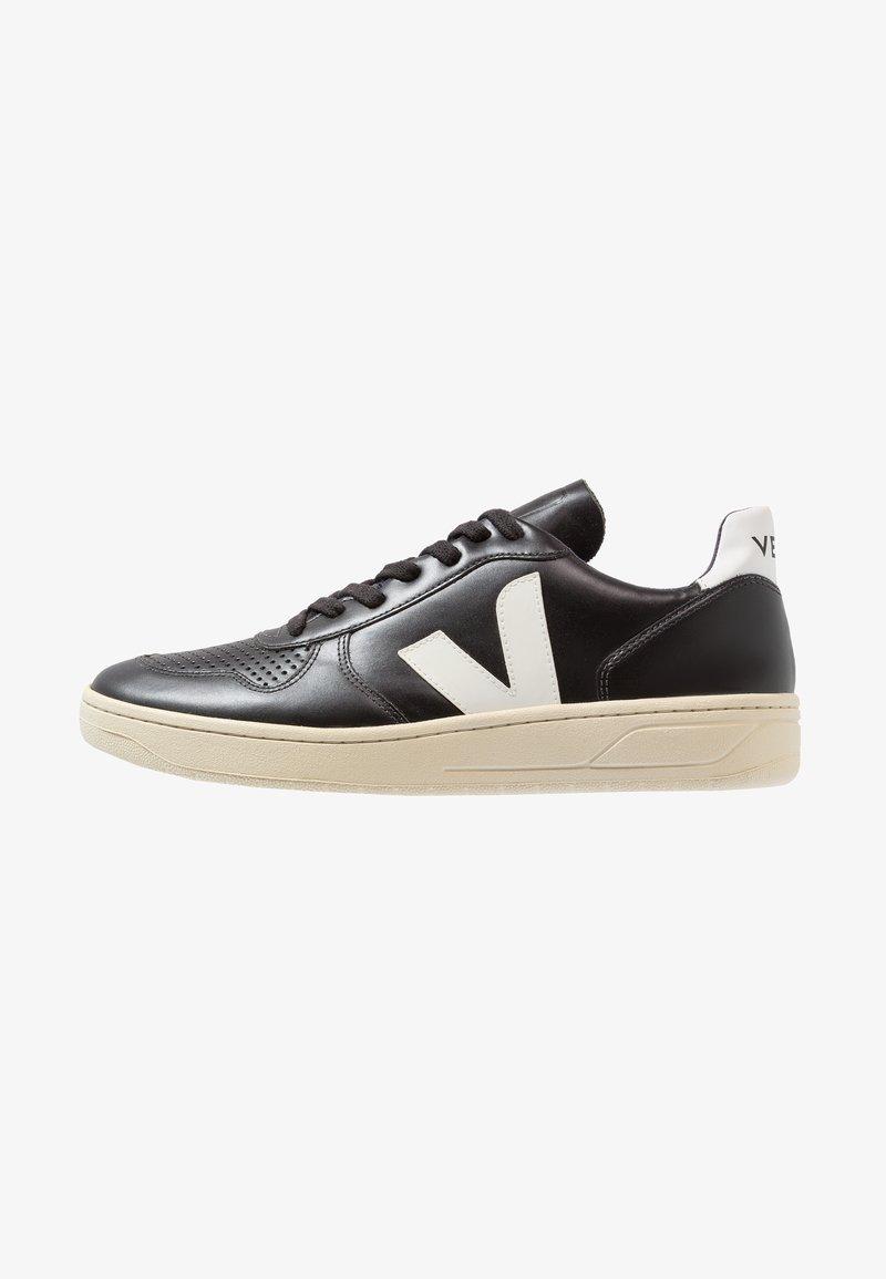 Veja - V10 LEATHER - Baskets basses - black/white
