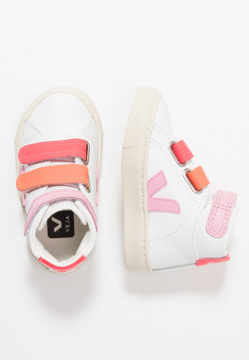 Veja - ESPLAR MID SMALL - High-top trainers - extra white/multicolor/pink