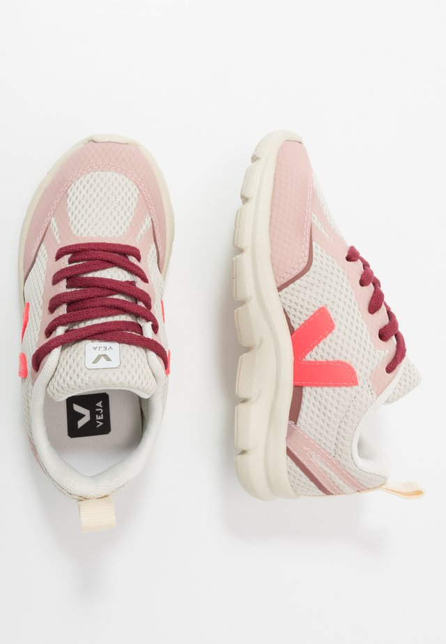 SMALL-CANARY - Sneakersy niskie - natural/rose fluo/dried petal