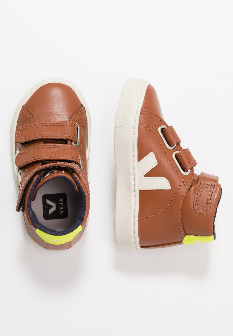 Veja - ESPLAR MID SMALL - High-top trainers - tuile pierre/jaune fluo