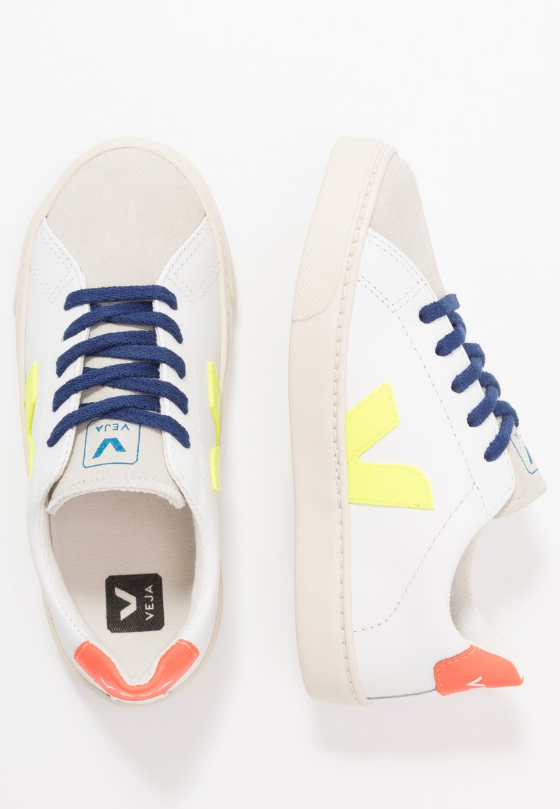 Veja - ESPLAR SMALL LACE - Sneakers laag - extra white/jaune fluo/orange fluo