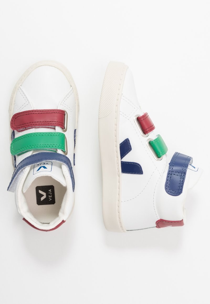 Veja - ESPLAR MID SMALL - Sneakers hoog - extra white/multicolor/cobalt