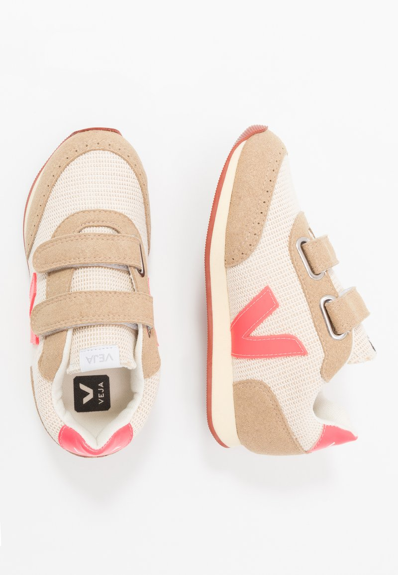 Veja - SMALL NEW ARCADE - Trainers - natural rose/fluo butter