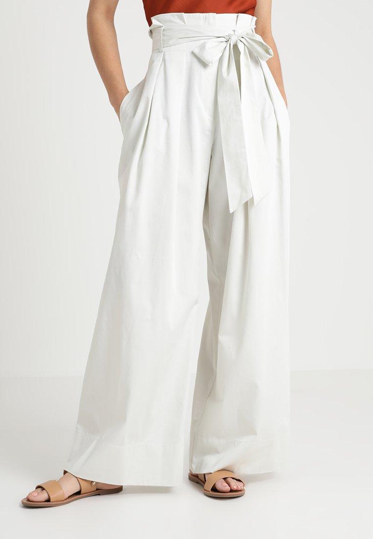 Ivko - HIGH WAIST PANTS - Trousers - off-white