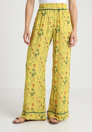 PANTS - Trousers - yellow