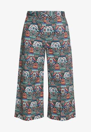 GEOMETRIC PATTERN PANTS - Pantalon classique - black