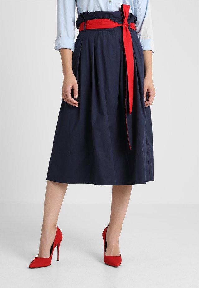 SOLID SKIRT - A-line skirt - marine