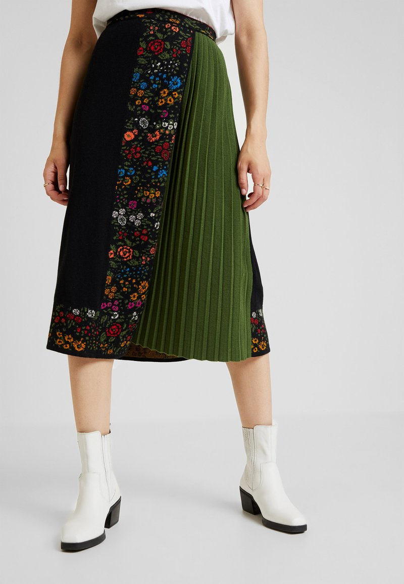 Ivko - ASYMMETRIC SKIRT - Gonna lunga - black