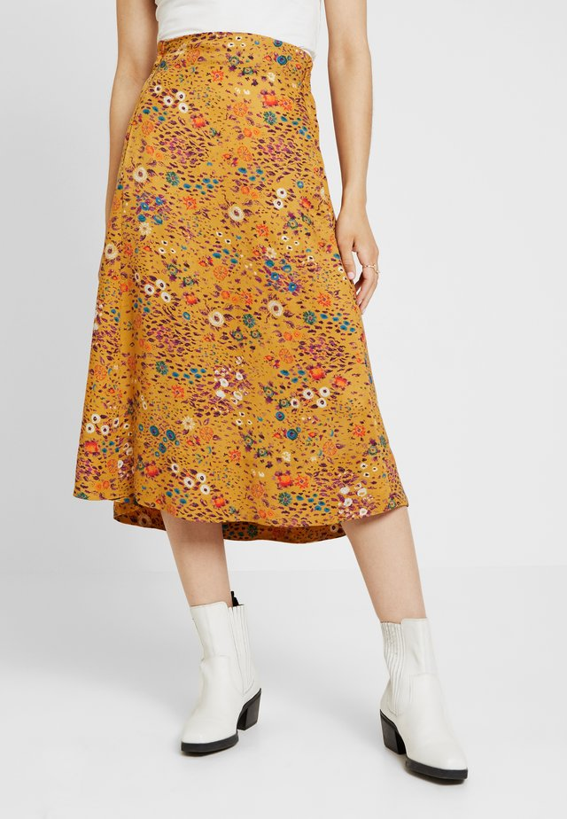 PRINTED SKIRT - A-Linien-Rock - golden