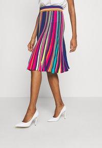 Ivko - STRIPED SKIRT - Áčková sukně - pink - 0