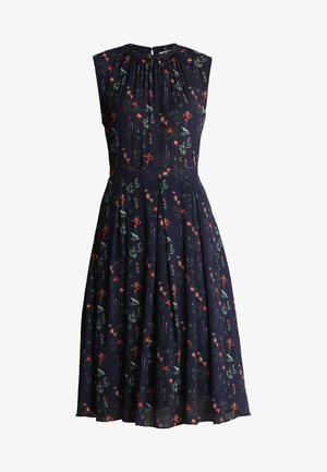 DRESS FLORAL PRINT - Vestido informal - navy