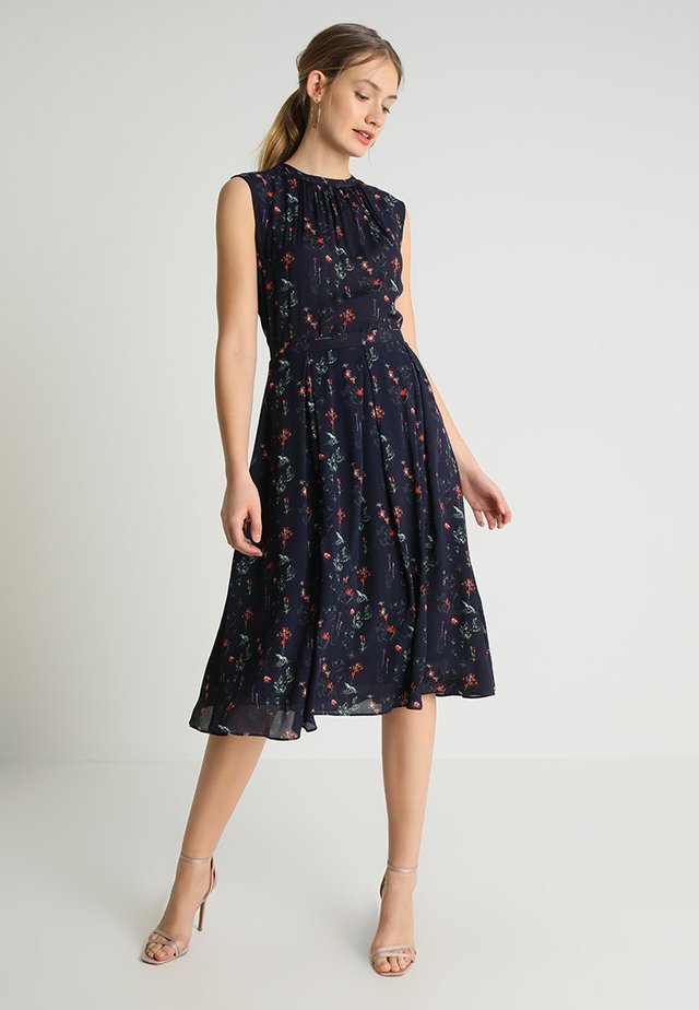 DRESS FLORAL PRINT - Sukienka letnia - navy