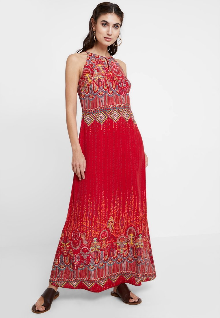Ivko - LONG DRESS WITH PRINT - Vestito lungo - red