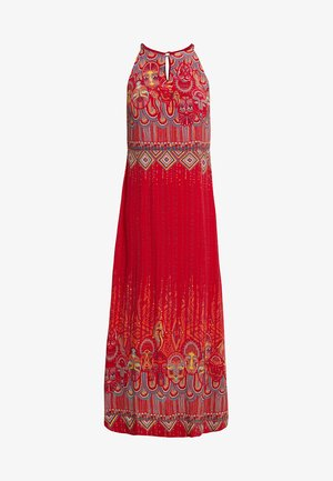 LONG DRESS WITH PRINT - Vestito lungo - red