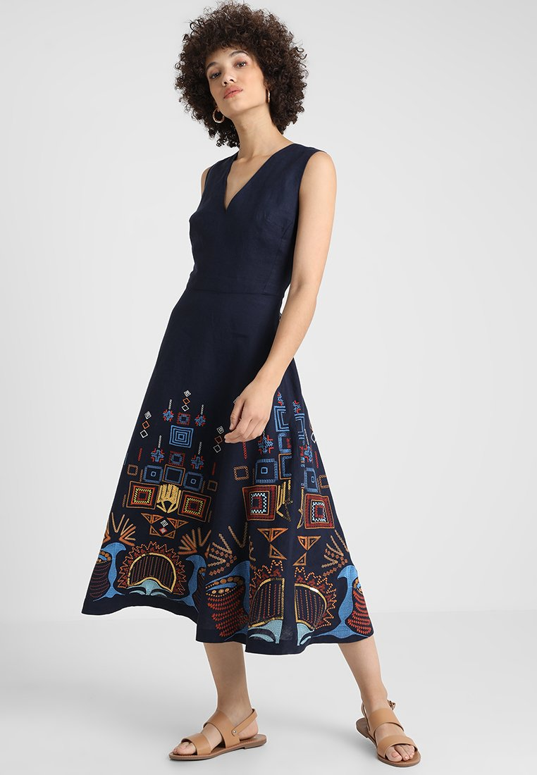Ivko - DRESS WITH EMBROIDERY - Maxi dress - navy
