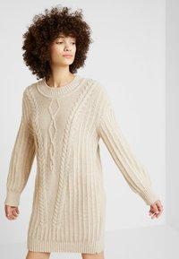 Ivko - PULLOVER STRUCTURE PATTERN - Strikket kjole - off-white - 0