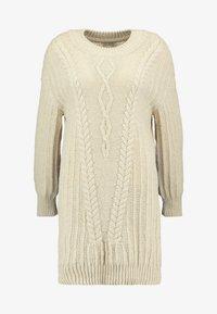 Ivko - PULLOVER STRUCTURE PATTERN - Strikket kjole - off-white - 4