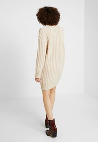 Ivko - PULLOVER STRUCTURE PATTERN - Strikket kjole - off-white - 2