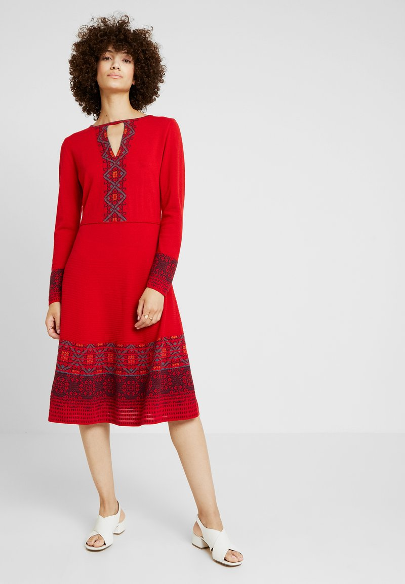 Ivko - DRESS INTARSIA PATTERN - Jumper dress - red