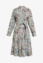 DRESS FLORAL PATTERN PRINT - Skjortekjole - off-white