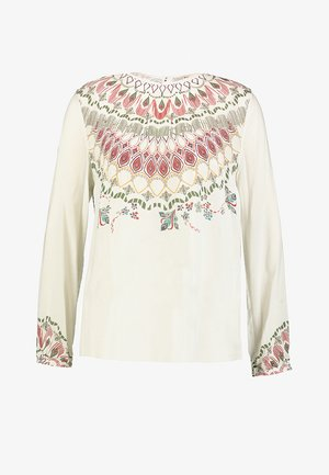 PRINTED BLOUSE - Bluse - off-white