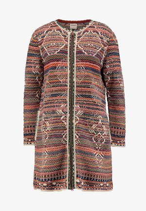 COAT GEOMETRIC PATTERN - Strickjacke - pearl