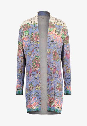 PRINTED LONG CARDIGAN - Strickjacke - lavendel