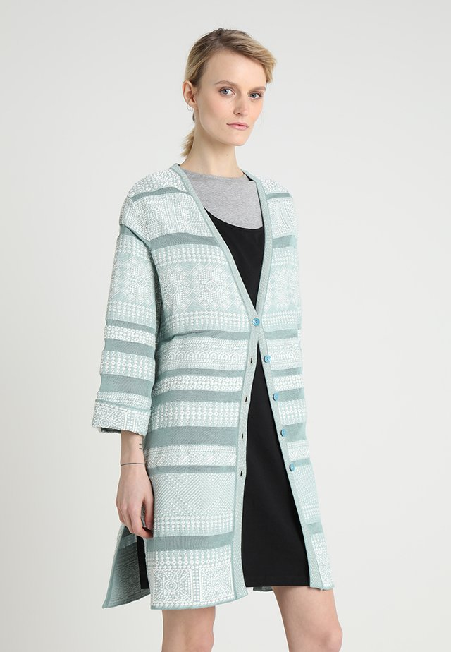 GEOMETRIC PATTERN - Strickjacke - aqua