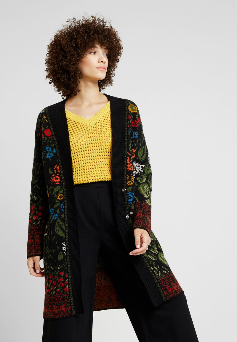 Ivko - COATIGAN FLORAL PATTERN - Cardigan - black