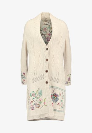 COAT STRUCTURE PATTERN - Cardigan - off-white