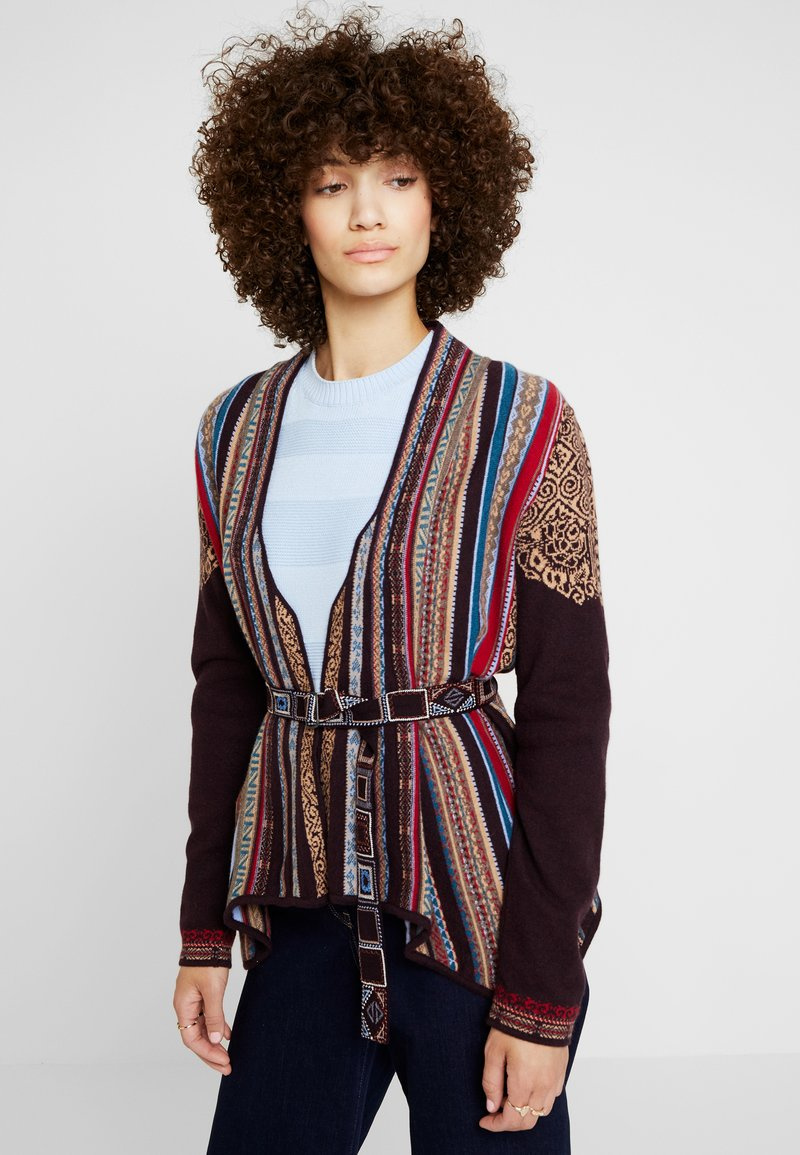 Ivko - PRINTED  - Cardigan - brown/red