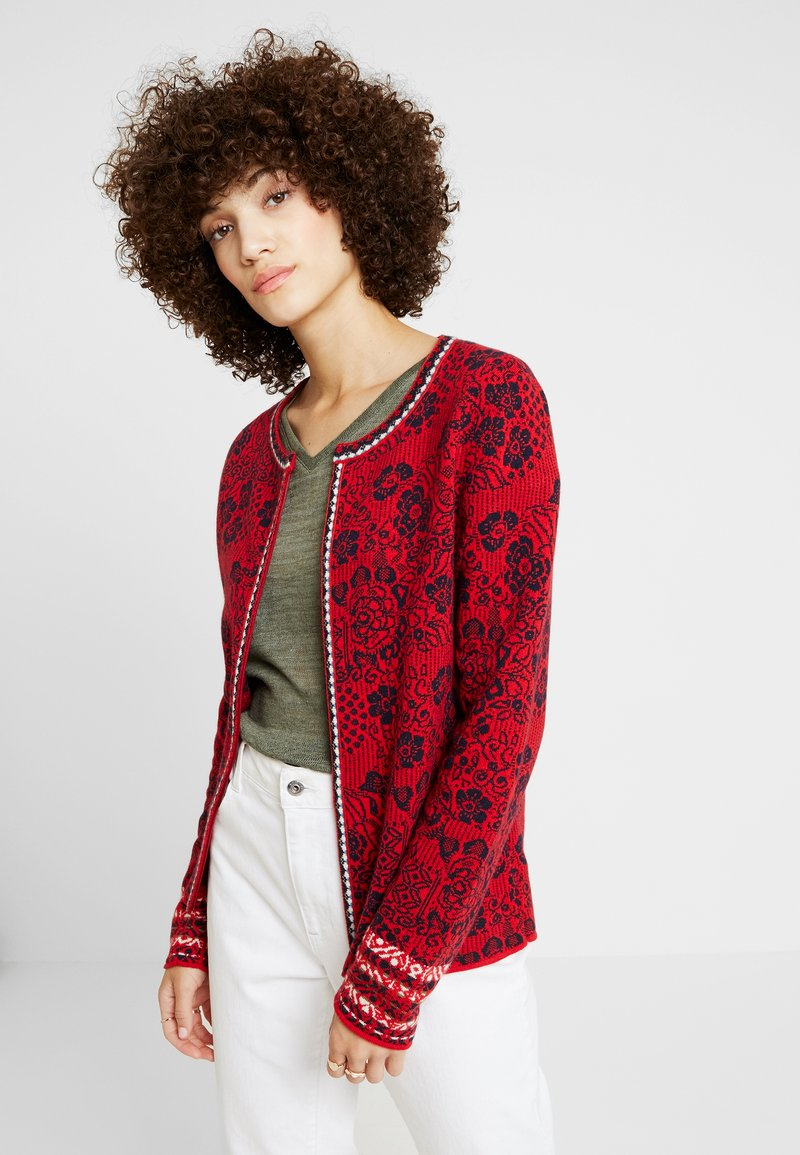 Ivko - CARDIGAN GEOMETRIC PATTERN - Neuletakki - red