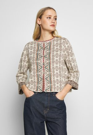 GEOMETRIC PATTERN - Strikjakke /Cardigans - off-white