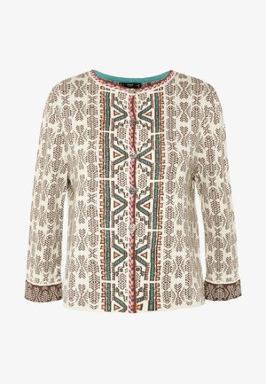 GEOMETRIC PATTERN - Cardigan - off-white