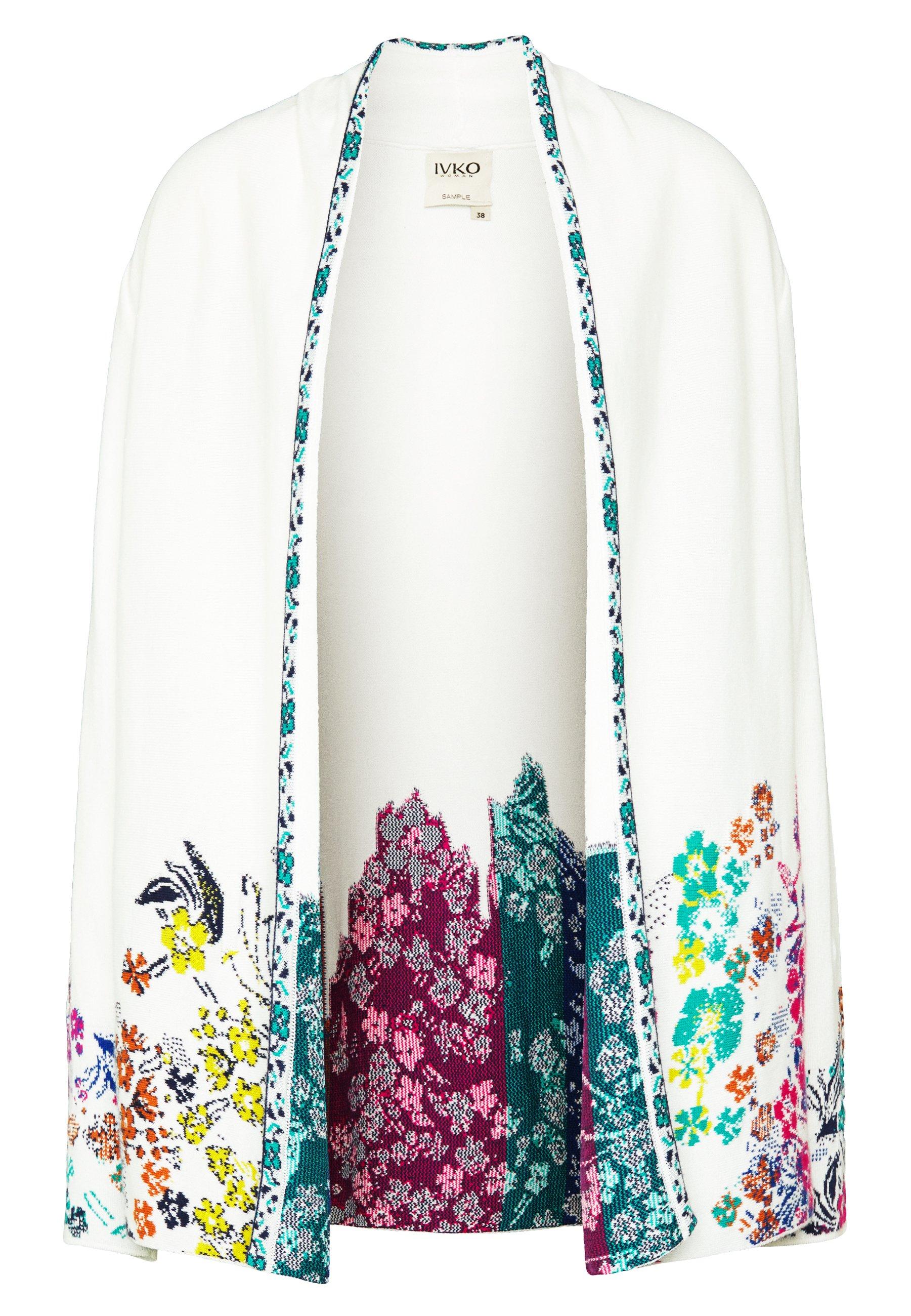 Ivko INTARSIA - Cardigan - white