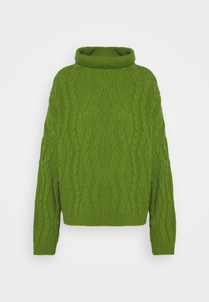 ROLL NECK STRUCTURE - Jumper - green