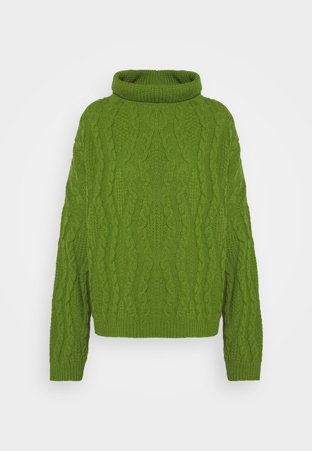 ROLL NECK STRUCTURE - Jumper - green