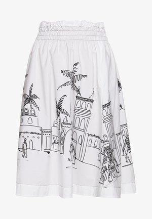 RIVEN - A-line skirt - white