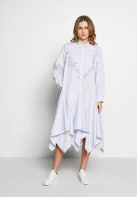 van Laack - WJWK2-WOLFGANG JOOP - Shirt dress - weiß blau - 0