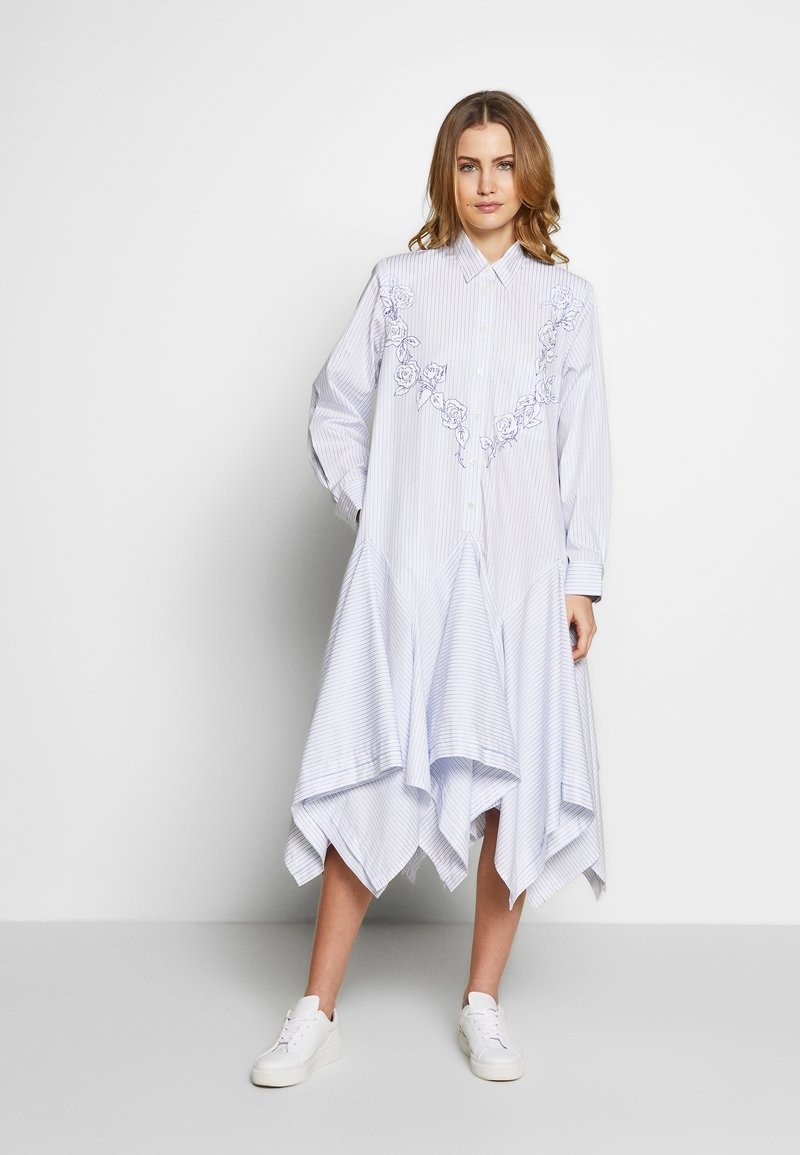 van Laack - WJWK2-WOLFGANG JOOP - Shirt dress - weiß blau