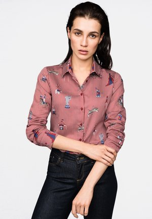 MODERN FIT - Button-down blouse - red