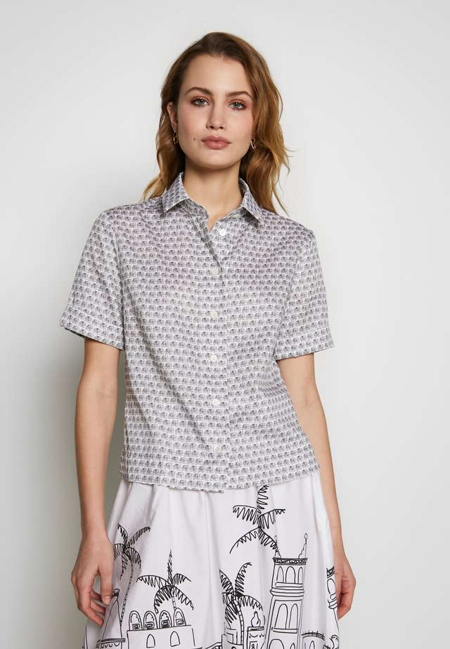 AMIS - Button-down blouse - grau