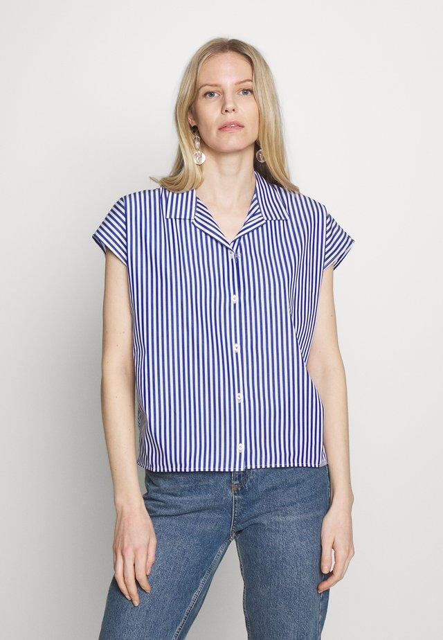 AILINE - Button-down blouse - blau